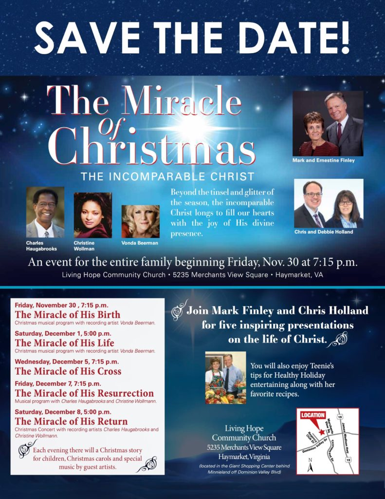 Save the Date Card - The Miracle of Christmas